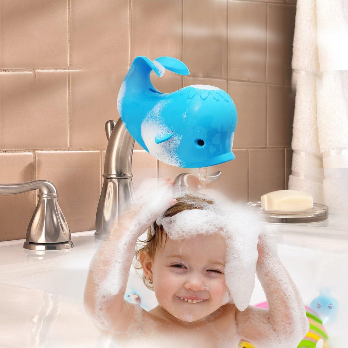 Vasca da Bagno Copertura Rubinetto Bambino Dangolo Copertura Toccare Caso Lacqua Bambini Protezione di Sicurezza Blu balena