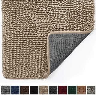 Gorilla Grip Original Indoor Durable Chenille Doormat, Large, 70x24, Absorbent, Machine Washable Inside Mats, Low-Profile Rug Doormats for Entry, Back Door, Mud Room Mat, High Traffic Areas, Beige
