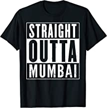 Straight Outta Mumbai Distressed Vintage Funny T-Shirt