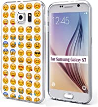 S7 Case & MUQR Bumper Rubber Gel Silicone Slim Drop Proof Protection Cover Compatible with Samsung Galaxy S7 Funny Print