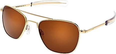 Randolph Aviator Sunglasses 23K Gold E.P. / Bayonet/Skytec American Tan 58mm