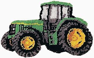XHXM Tractor Volando Kit de alfombras para Tejer con Lana Gancho Kit Alfombra Enganche Cojín Bordado DIY Decoración para el hogar,Protección del Medio Ambiente,sin Olor,52 * 38cm