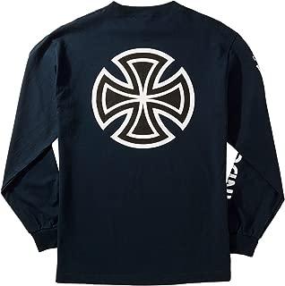 Bar Cross Sleeve Longsleeve T-Shirt - Navy