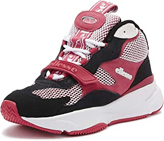 Ellesse Aurano Mid Womens Pink/White/Black Suede Trainers