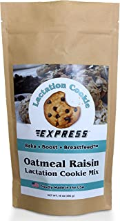 All Natural Oatmeal Raisin Lactation Cookies Mix for Breastfeeding Moms to Increase Breast Milk Supply with Brewers Yeast, Oats, Flaxseed by Lactation Cookie Express