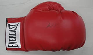 Muhammad Ali Hand Signed Autographed Red Everlast Boxing Glove GA 864572 Faded