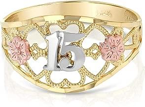 quinceanera rings 14k