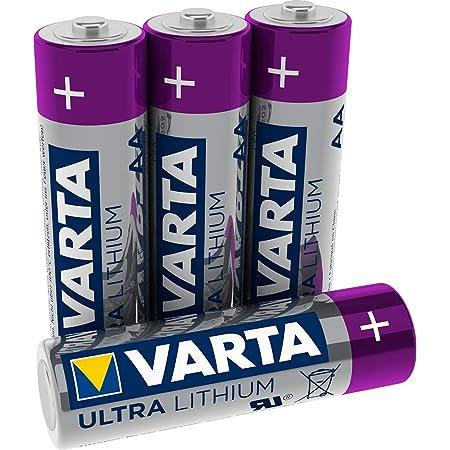Pilas Varta Lithium AA Mignon LR06 (paquete de 4 unidades) - Ideal para cámaras digitales, juguetes, GPS, usos deportivos y al aire libre