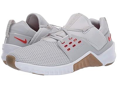 Nike Free Metcon 2 (Pure Platinum/Habanero Red) Men