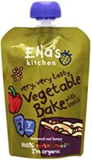 Ella's Kitchen Organic Puree, Vegetable Bake With Lentils, 130g (Pack of 1)