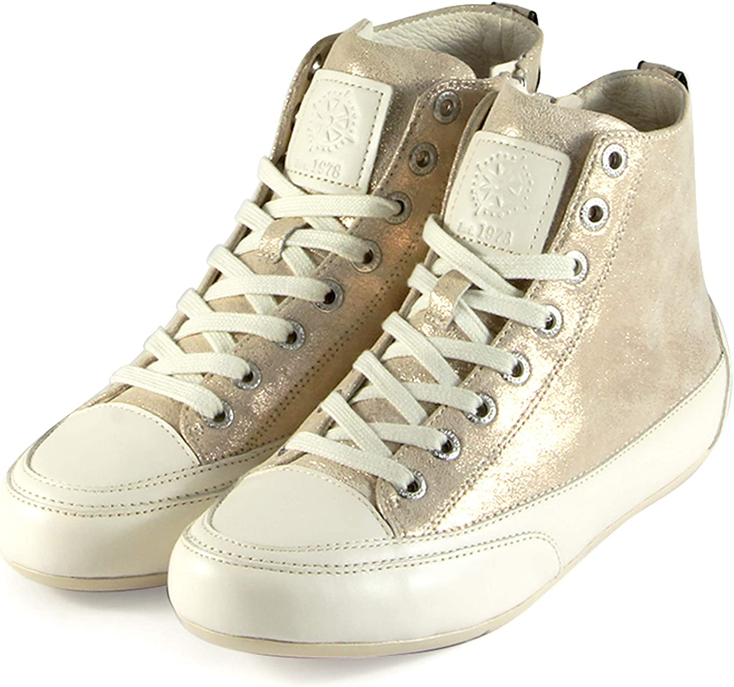 Bussola Sneakers for Women Lace-up Sneakers Leather Fashion Sneakers Novara Hight top Comfortable Walking Casual Shoes