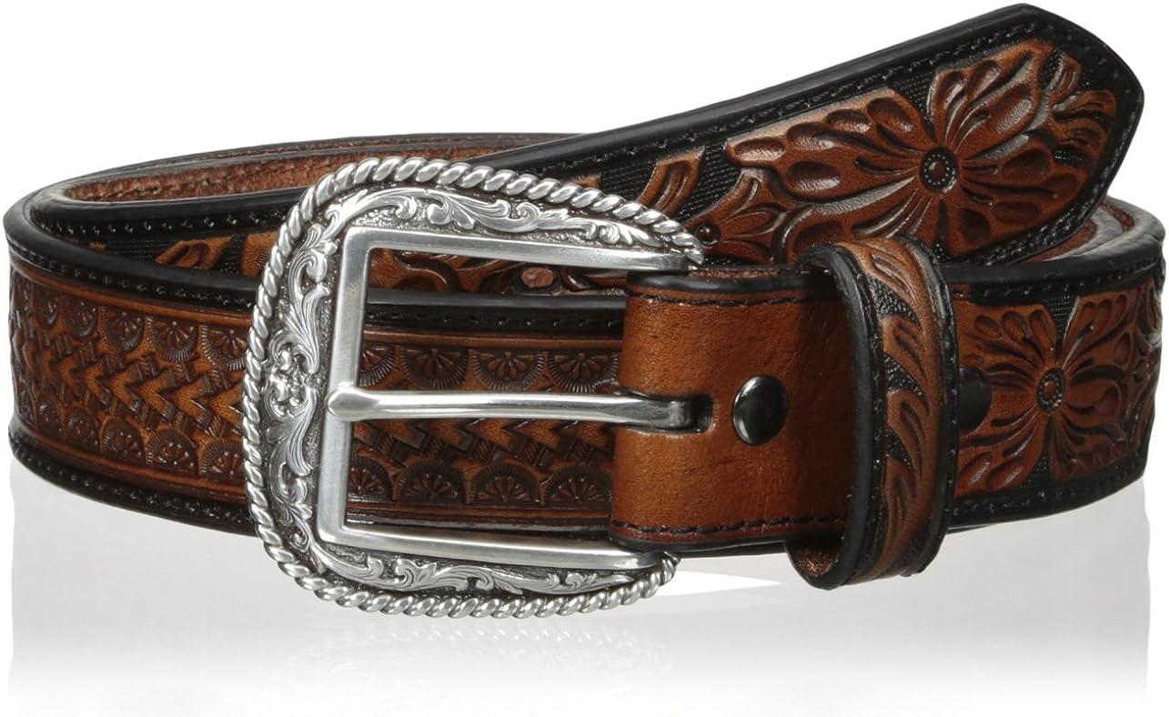 Ariat Men's Arrow Tooled Floral Billit Belt