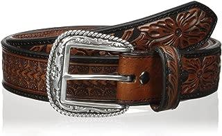 Men's Arrow Tooled Floral Billit Belt