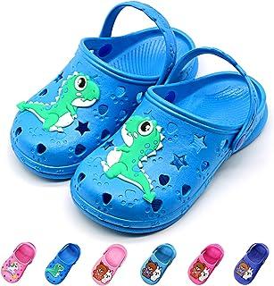 Namektch Toddler Little Kids Clogs Slippers Sandals, Non-Slip Girls Boys Slide Lightweight Cartoon Garden Slip-on Shoes Beach Pool Shower Slippers
