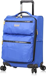 Best Ultra Lightweight Carry On - Expandable Softside 20 Inch Luggage - Small Rolling Bag Fits Most Airline Compartments - Durable 8-Spinner Wheels Suitcase (Royal Blue) Review