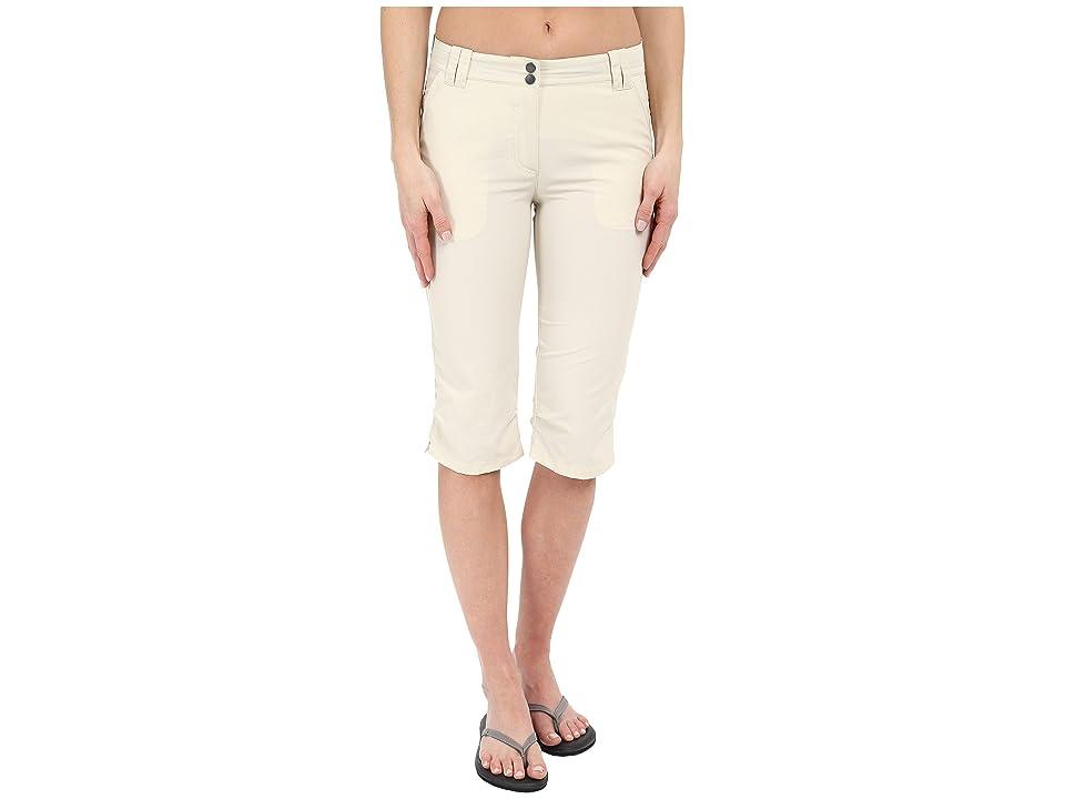 Jack Wolfskin Kalahari 3/4 Pants (White Sand) Women