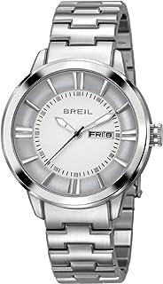 Orologio BREIL uomo DEEP quadrante argento e bracciale in acciaio, movimento SOLO TEMPO - 3H QUARZO