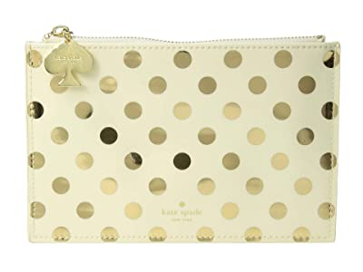 Kate Spade New York Dots Pencil Pouch (Gold) Travel Pouch
