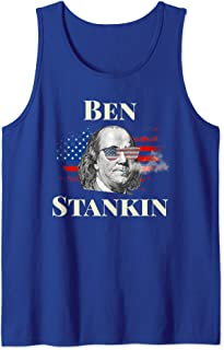 Funny Weed Tank Tops For Men 4th Of July Stoner Ben Drankin Tank Top