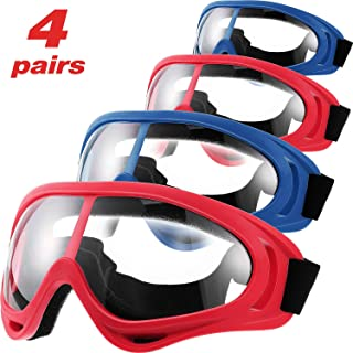 Frienda 4 Pairs Protective Goggles Safety Glasses Eyewear for Teens Game Battle Hiking..