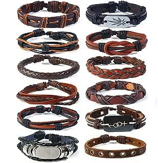 3-30PCS Leather Bracelets Cuff Wristbands 15-25CM(5.91-9.84