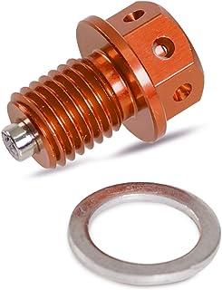 H2Racing Orange Motor M12 x P1.5 Magnetisch Ölablassschraube Schrauben für 125 530 SX/SX F/EXC/EXC F/EXC R/XC/XC W/XC F,450 690 SMR/SMC/Enduro/R/Adventure/Supermoto/R/Duke (Orange)