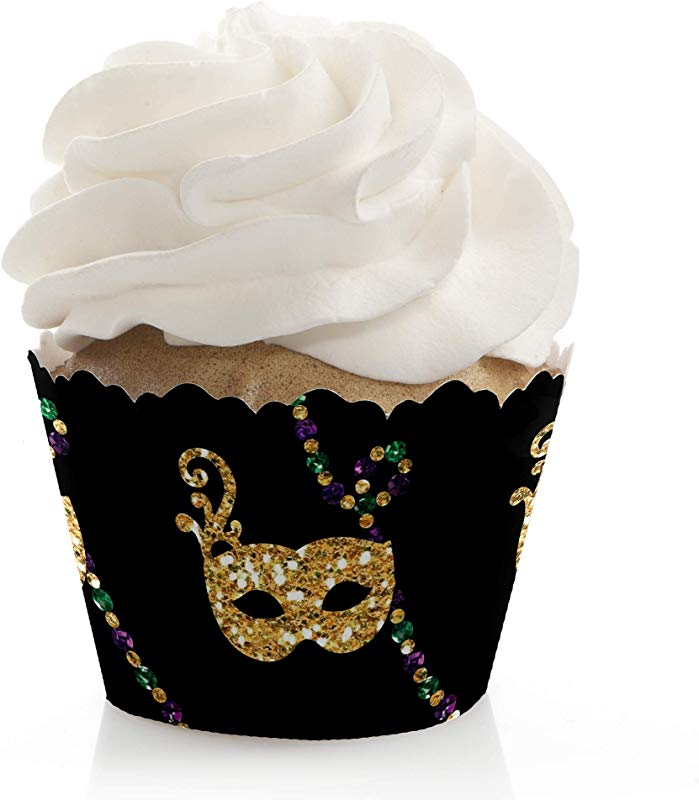 Mardi Gras Masquerade Party Decorations Party Cupcake Wrappers Set Of 12