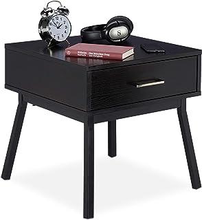 RPLW Moderno Tavolino da Divano Nessun Assemblaggio,Lussuoso Comodino da Letto Mobili da Letto,Comodino con 2 Cassetti in Pelle,Compact Tavolino da Salotto A1 48x42x48cm 19x17x19in