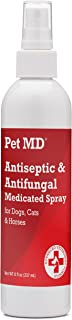 Pet MD - Antiseptic and Antifungal Medicated Spray for Dogs, Cats and Horses with Chlorhexidine, Ketoconazole, Essential Fatty Acids, Aloe and Vitamin E - 8 oz