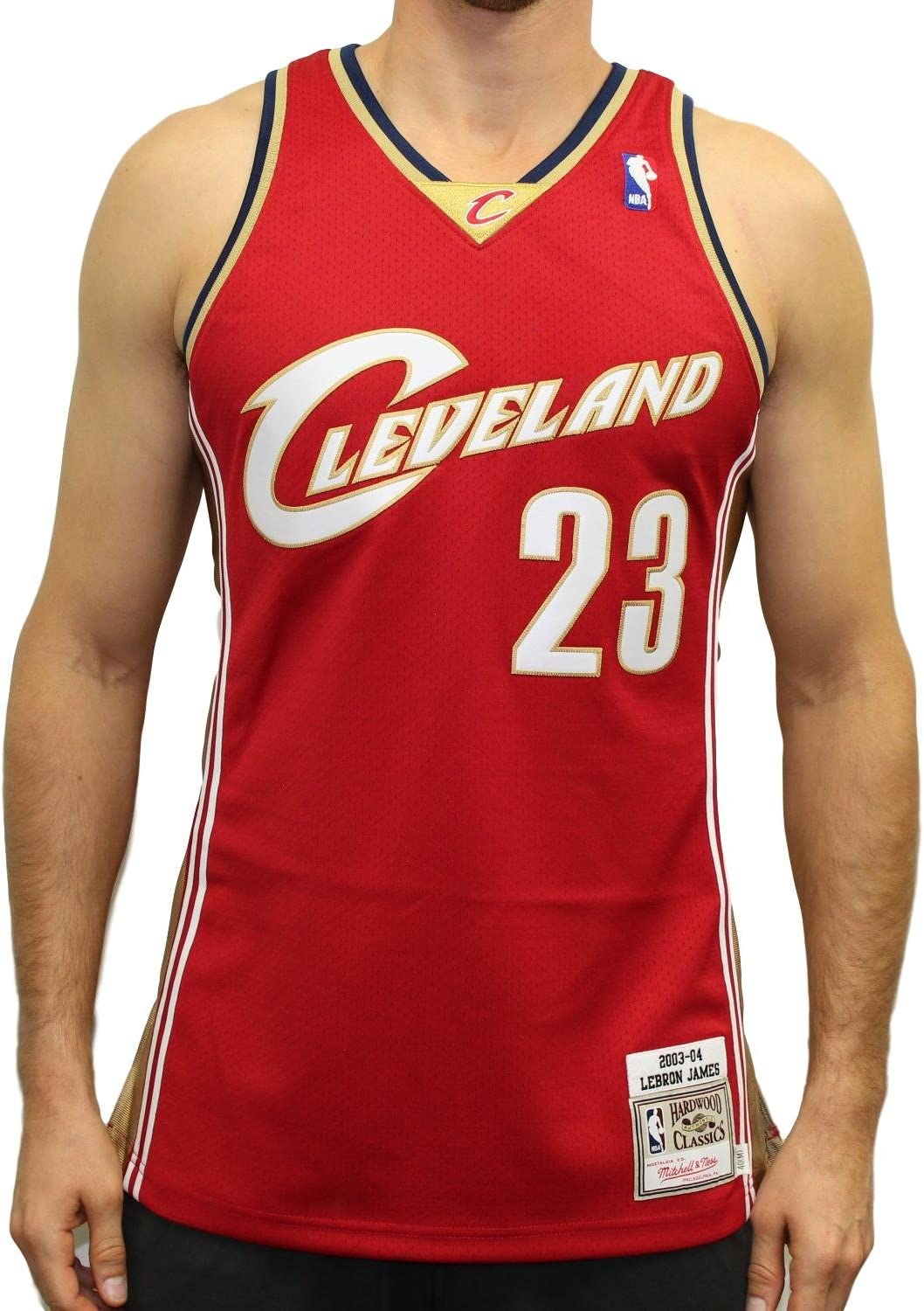 Mitchell & Ness Lebron James Cleveland Cavaliers Authentic 2003 Road NBA Jersey