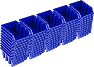 PAFEN Set de 50 cajas apilables NP4, color azul