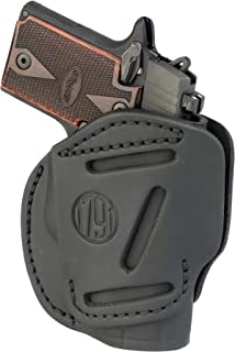 1791 GUNLEATHER 3-Way SIG P238 Holster - OWB CCW Holster Ambidextrous - Right or Left Handed Leather Gun Holster - Fits Sig Sauer P238, P365, Ruger LCP 380, SW Bodyguard (3WH Size 2)