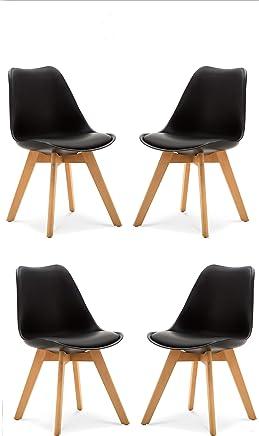 Amazon.it: sedie moderne - Pelle / Sala da pranzo / Arredamento ...