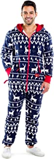 Matching Family Christmas Pajamas - Red and Blue One Piece Xmas PJ's
