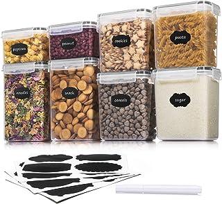 Aitsite Boîte de Conservation Alimentaire 8 Pièces, Boîte à Céréales Sans BPA, Récipient de Stockage Hermétique Pour Céréa...