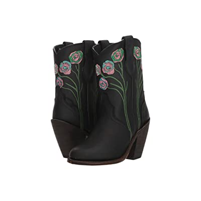 Dingo Dahlia (Black Leather) Cowboy Boots