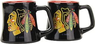 NHL Full Color Sclupted Mug 2oz Shot Glass 2-Pack (Chicago Blackhawks)