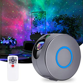 Star Projector, Galaxy Projector with LED Nebula Cloud, Star Light Projector with Remote Control for Kids Adults Bedroom/Home Theatre/Party/Game Rooms and Night Light Ambience-Silver Gray