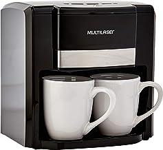 Cafeteira Elétrica 220V com 500W 2 Xícaras + Colher Dosadora + Filtro Permanente Preta Multilaser - BE010