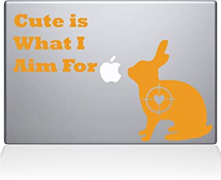 "The Decal Guru Cute Rabbit Hunting Macbook Decal Vinyl Sticker  - 13"" Macbook Pro (2015 & older) - Yellow (1247-MAC-13P-SY)"