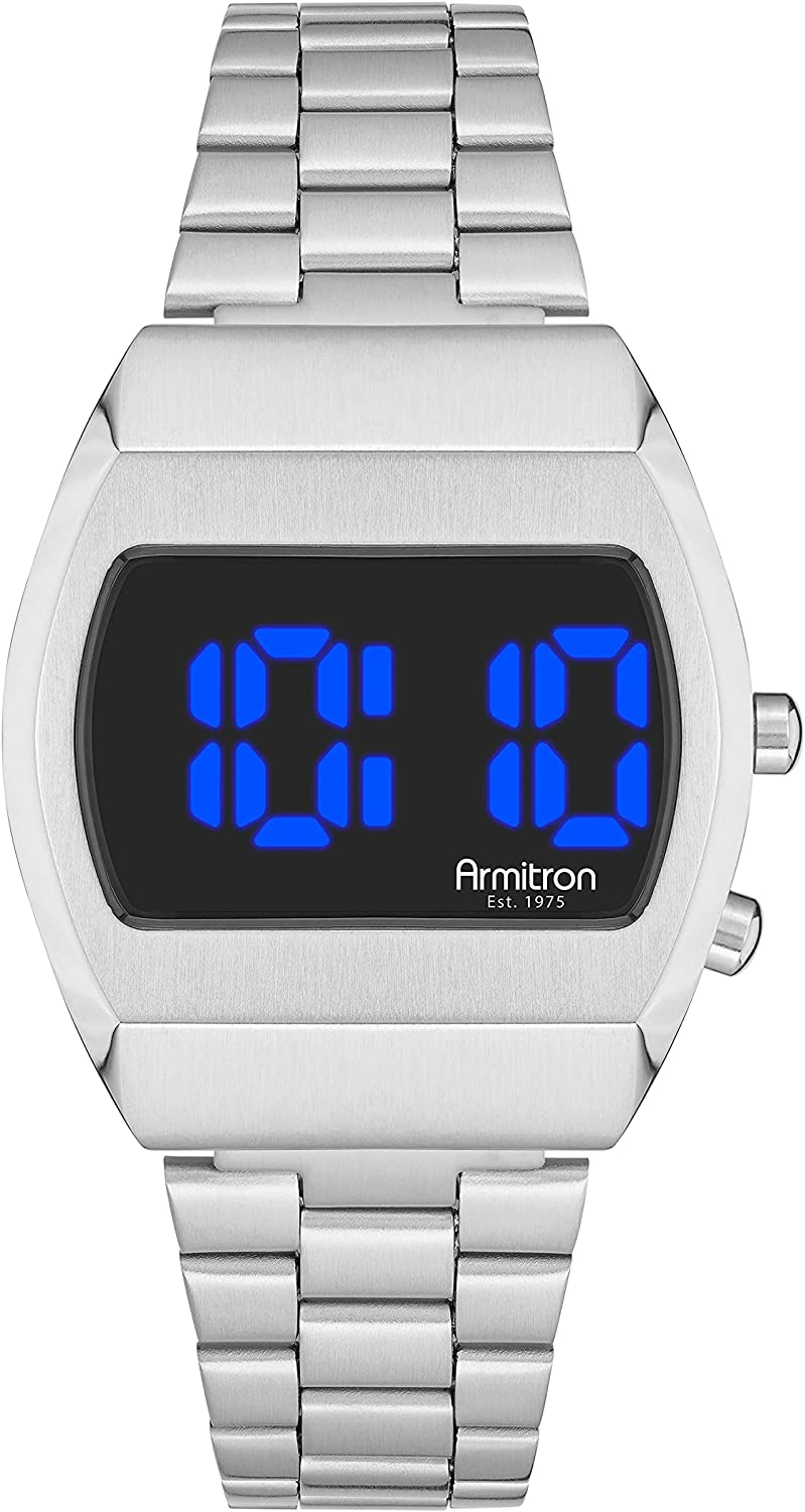 Armitron Sport Retro 2021 autumn and winter Limited time trial price new Men's Digital Bracelet Multi-Function Watch