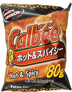 Calbee - Hot & Spicy Potato Chips 2.82 Oz.