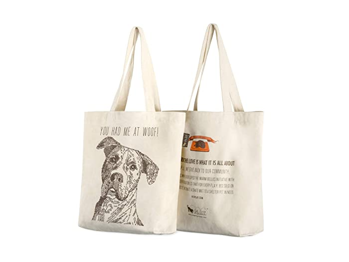 Mutt You Had Me At Woof Tote (Tan) Dog Accessories