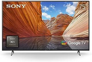 Sony 75 Inch BRAVIA X80J Smart Google TV, 4K Ultra HD With High Dynamic Range HDR, KD-75X80J, 2021 Model