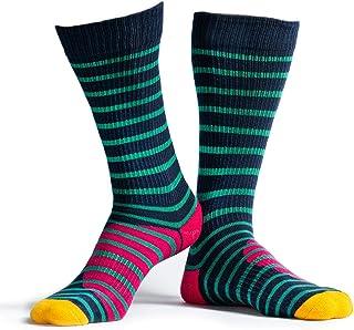 Ride More Protection, RideMore – Calcetines de skate para hombre y mujer | Calcetines largos estampados coloridos para patinadores y deportistas