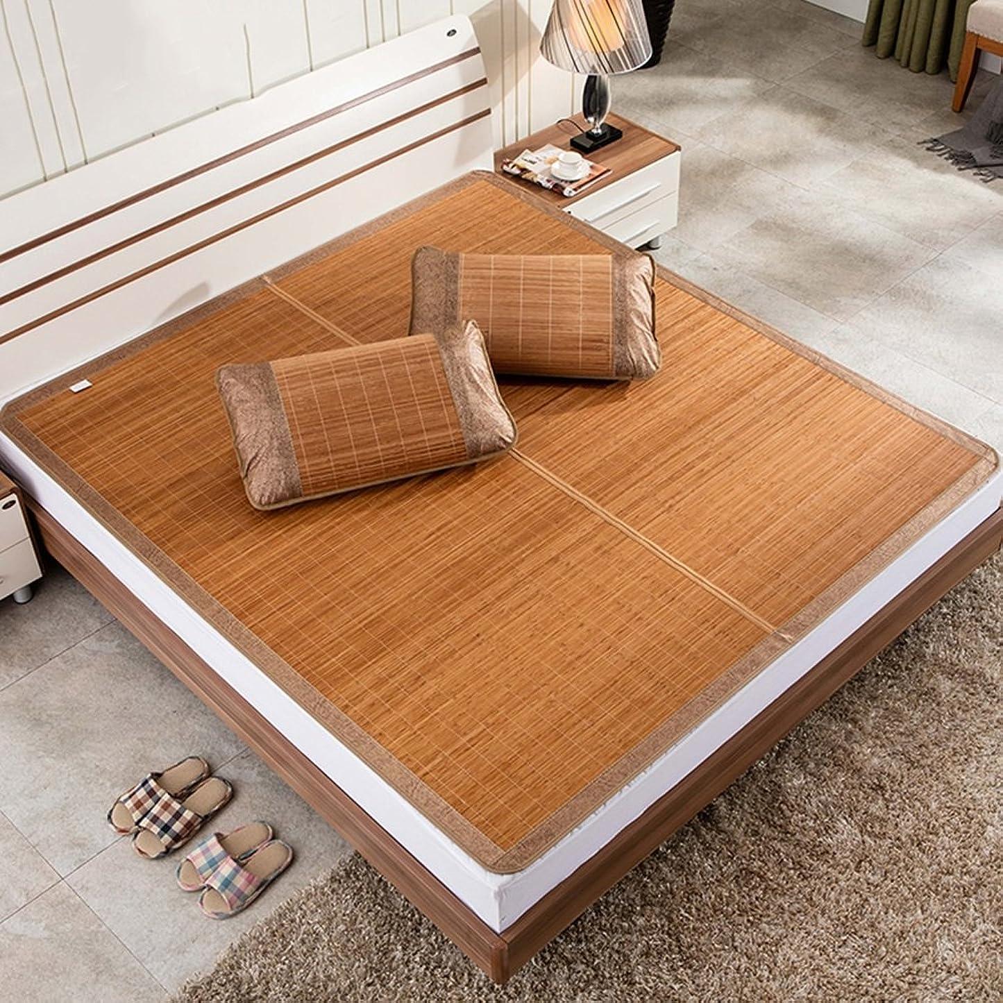経歴セージパスタクールマットレス、寝具ストローマット寝袋マットベッドマット折り畳み式ホームベッドルーム寝室マルチ機能、枕カバーなし、8サイズ 凉席 涼しい席 (サイズ さいず : 1.35×1.95m)