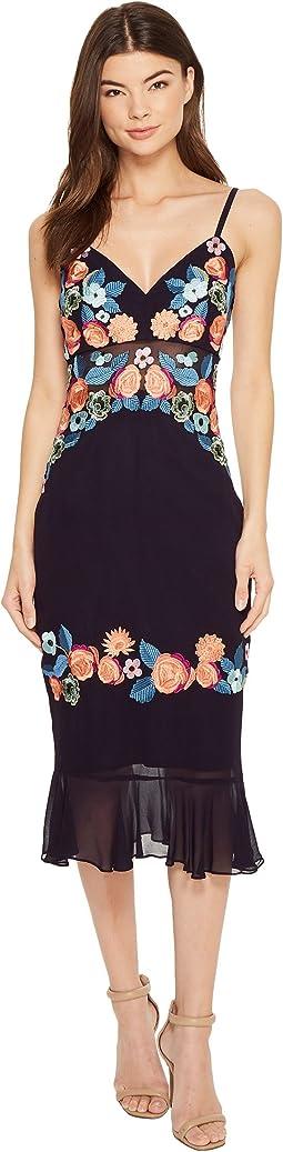 Nicole Miller - Daydream Embellished Arturo Ruffle Dress