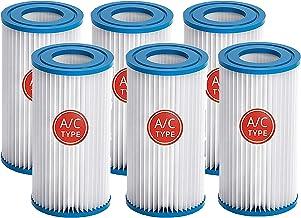 Mscomft Cartucho de filtro tipo A de repuesto para piscinas de Intex, para Intex tipo A, cartucho de filtro para piscinas, para las piscinas Quick-up, para accesorios de filtro Intex (6 unidades)