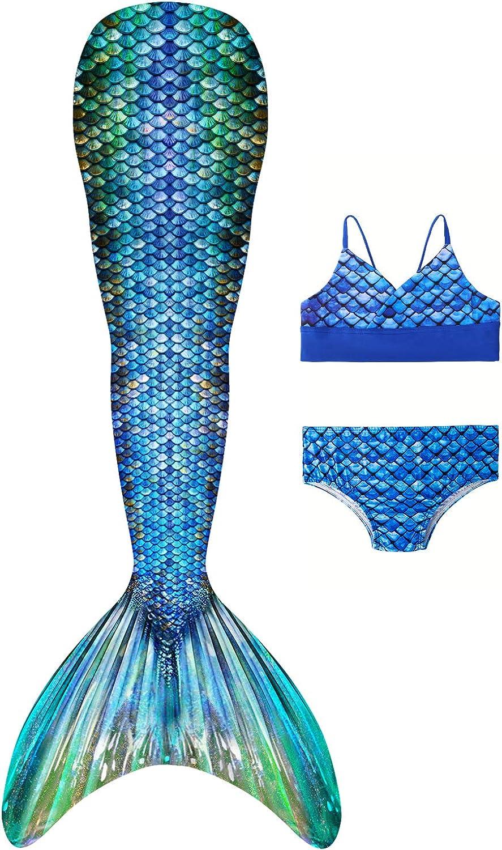 Girls Swimsuit Mermaid Cheap SALE Detroit Mall Start Tails for Bikini Sui Swimming Set Bathing
