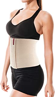"ORTONYX 10.25"" Breathable Abdominal Binder/Postpartum Postoperative Wrap/Abdomen Hernia Support Belt for Men and Women / ACOX524010"